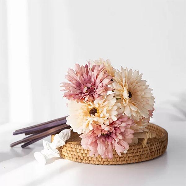 Fancy Rund Silke Blomst Brudepige Buketter -