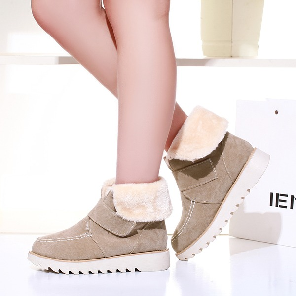 Vrouwen Suede Flat Heel Flats Laarzen أحذية