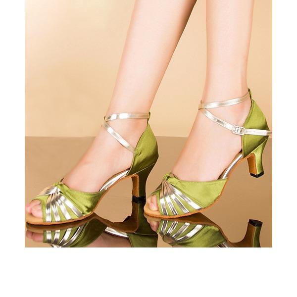 Femmes Sandales Latin avec Lanière de cheville Chaussures de danse