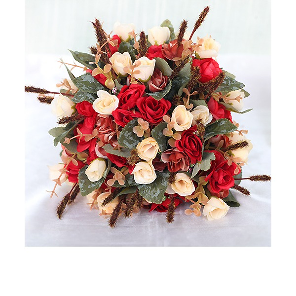 Charming Free-Form Fabric Bridal Bouquets/Bridesmaid Bouquets -