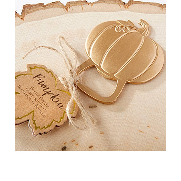 Pumpkin Zinc Alloy Bottle Openers With Tag (Set of 20)