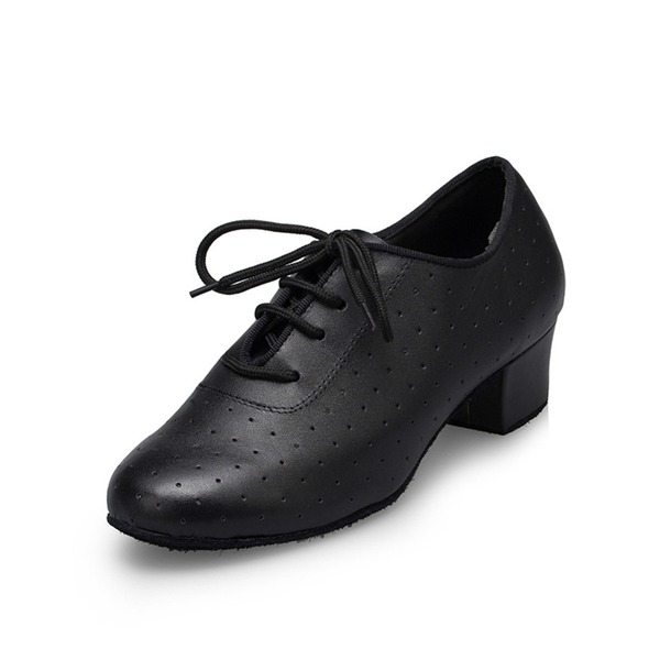 Men's Leatherette Heels Pumps Practice Dance Shoes