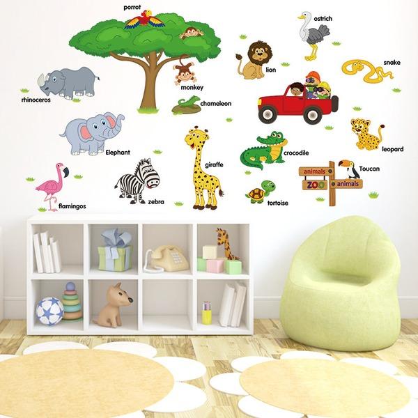 Karikatura jednoduchý PVC Domovní dekorace (Prodává se jako jeden kus)