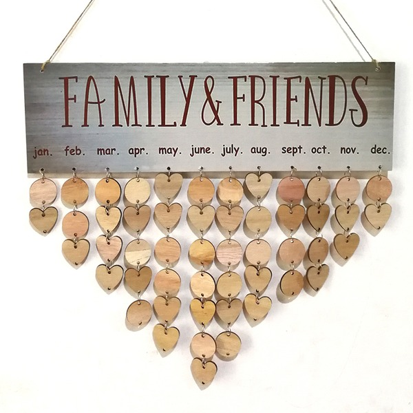 Classic/Heart Design Lovely/Pretty Wooden Wedding Ornaments (Sold in a single piece)