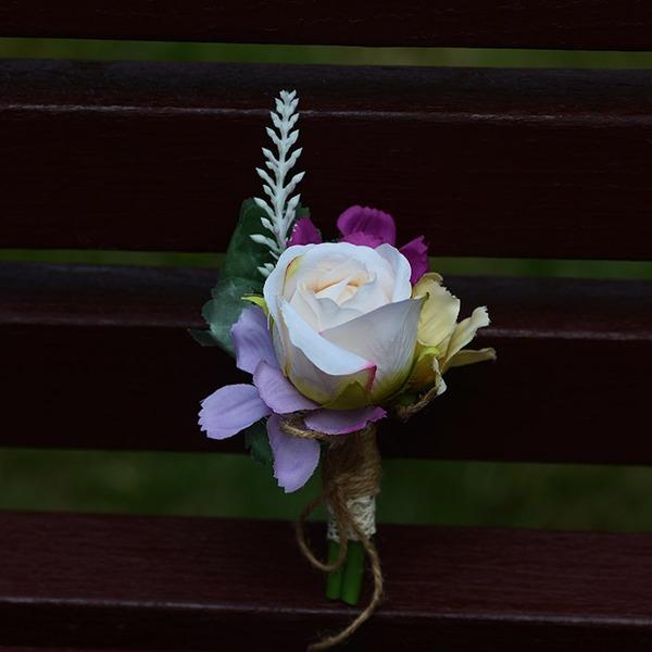 Plastica Fiore all'occhiello (venduto in un unico pezzo) -