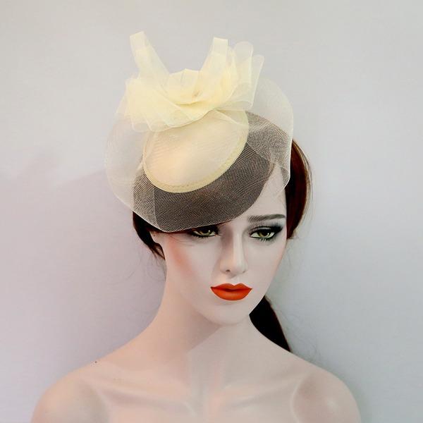 Dames Beau Fil net/Velours Chapeaux de type fascinator