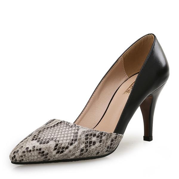 Femmes Similicuir Talon stiletto Escarpins avec La copie Animale Semelle chaussures