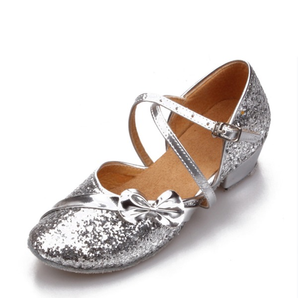 Women's Sparkling Glitter Ballroom Dance Shoes