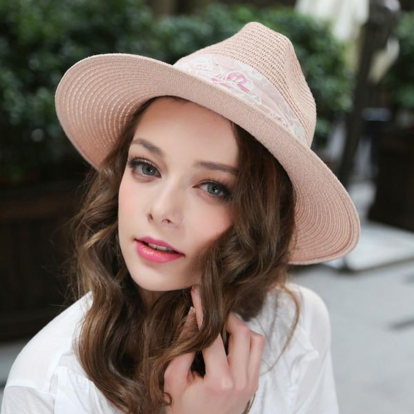 Dames Magnifique/Élégante Raphia paille Chapeau melon / Chapeau cloche