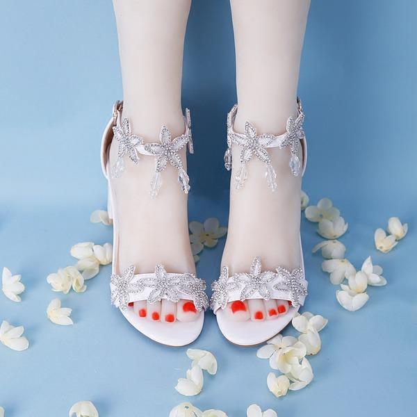 Vrouwen Kunstleer Stiletto Heel Peep-toe met Kristal