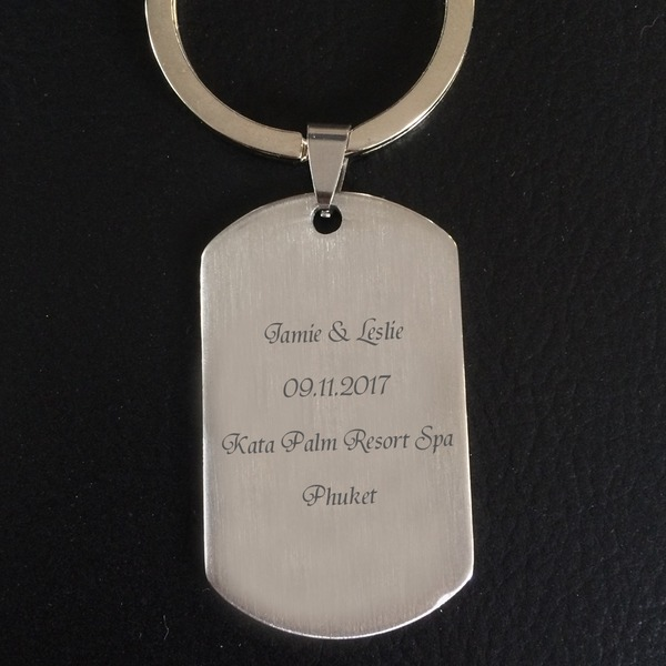 Personalized Stainless Steel/Zinc Alloy Keychains (Set of 4)