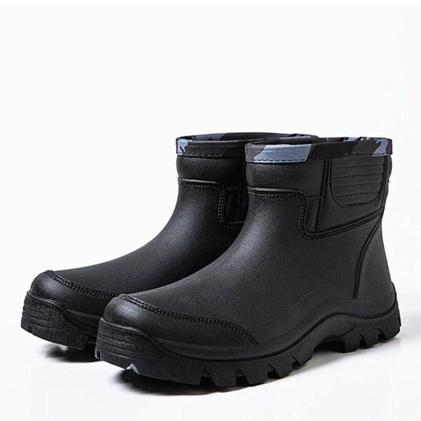 Hombres Caucho Botas de lluvia Casual Botas de caballero