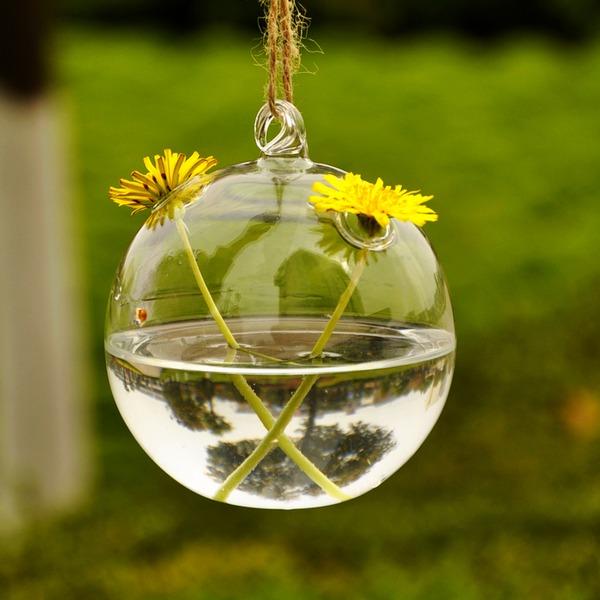 Durchmesser 6cm Schön Einfache Hängen Glas Vase (In Einem Stück Verkauft)