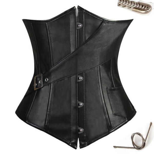 Kvinder Classic/Elegant/Gotisk stil PU Cintura Cinchers/Espartilho Formet tøj