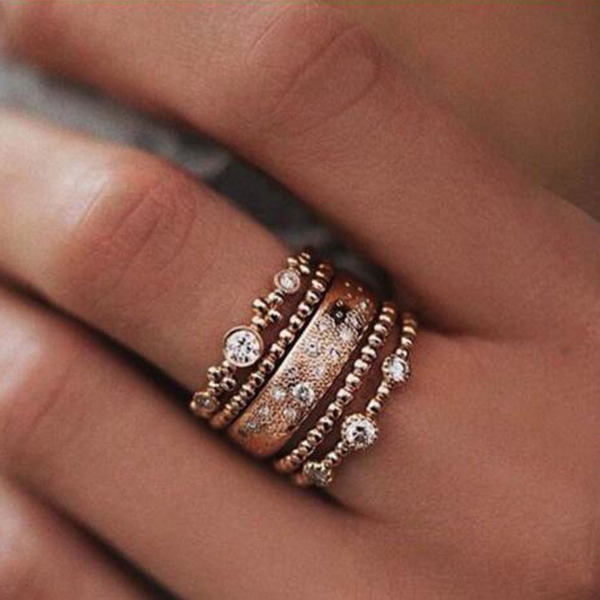 Klassiek Legering Vrouwen Fashion Ringen (Set van 5)
