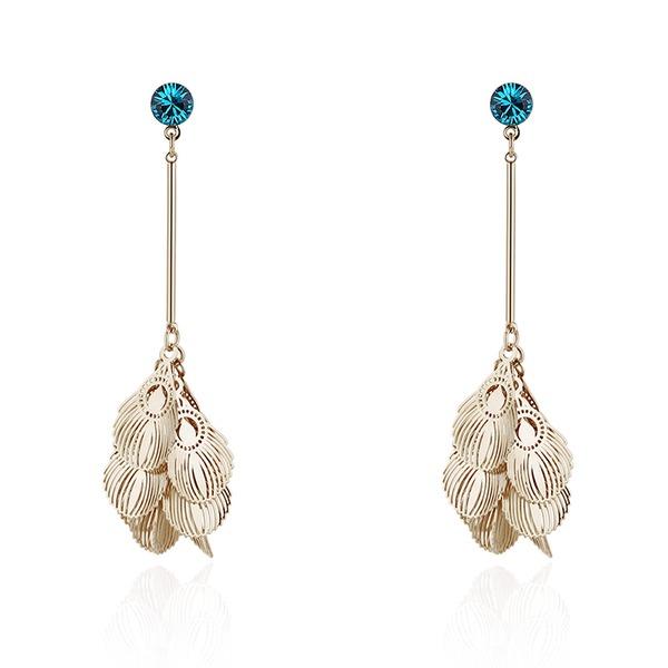 Lysande Kristall koppar med Oäkta Kristall Kvinnor Mode örhängen