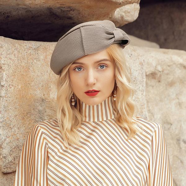 Señoras' Elegante/Fantasía poliéster con Bowknot Boina Sombrero