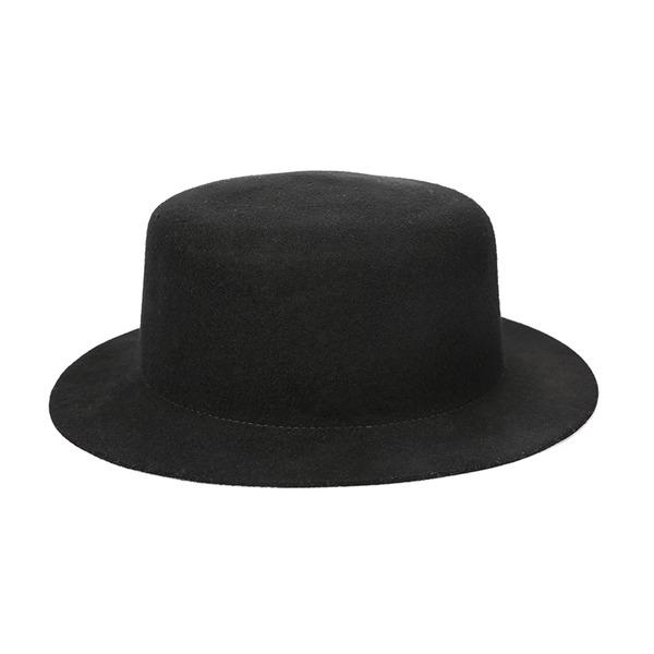 Señoras' Elegante/Exquisito/Estilo de la vendimia Madera Bombín / cloché Sombrero/Sombrero de fieltro