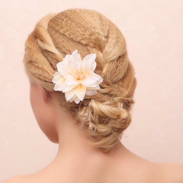Elegante Panno Pettine & clip di capelli/Fiori & piume