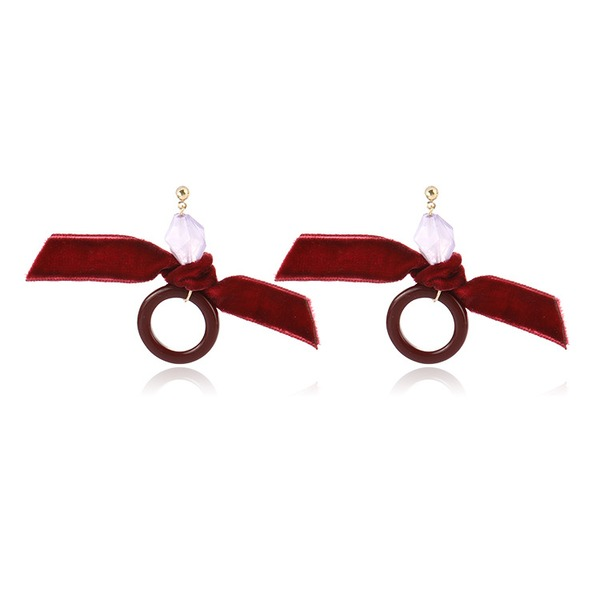 Stylish Alloy Fabric Women's Fashion Earrings (Sold in a single piece)