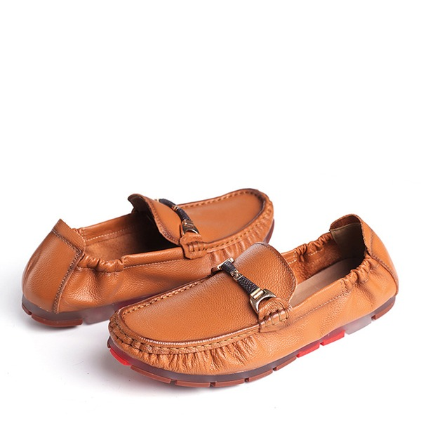 Men's Real Leather U-Tip Horsebit Loafer Casual Men's Loafers