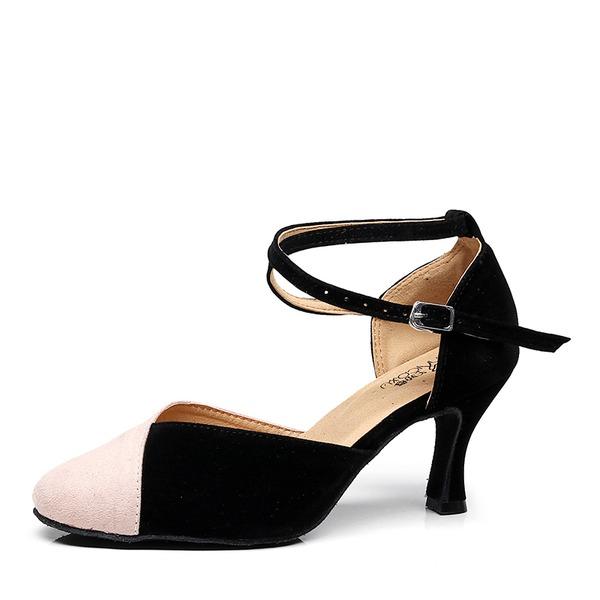 Kadın Süet Topuk Balo Dans Ayakkabıları