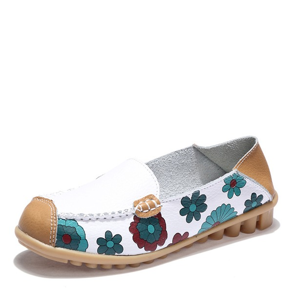 Frauen Kunstleder Flascher Absatz Flache Schuhe Geschlossene Zehe Schuhe