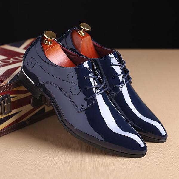 Erkek suni deri Bağcıklı Elbise Ayakkabıları Erkek Oxford Ayakkabı