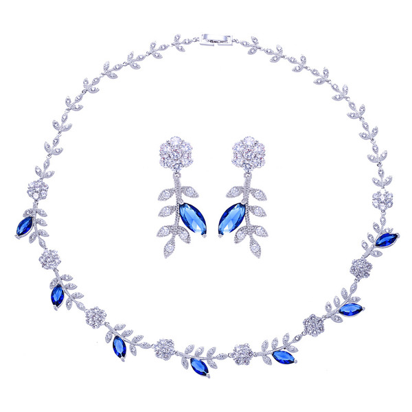 Ladies' Gorgeous Copper/Platinum Plated With Cubic Cubic Zirconia Jewelry Sets For Bride/For Bridesmaid