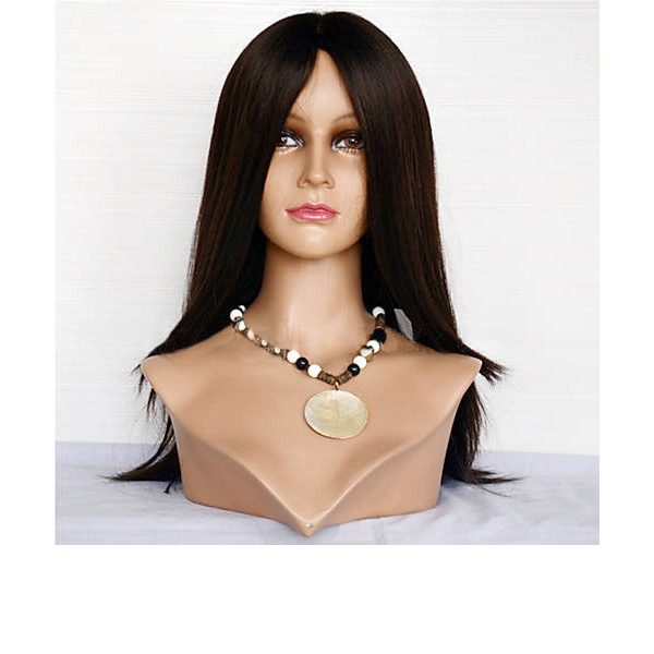 4A Non remy Straight Human Hair Full Lace Wigs