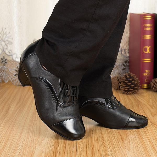 Män Äkta läder Klackar Sandaler Latin Bal Övning Karaktärskor Dansskor