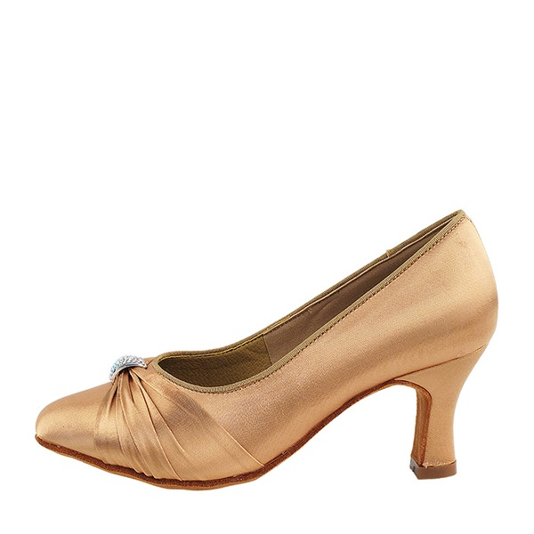 Women's Satin Heels Ballroom Dance Shoes