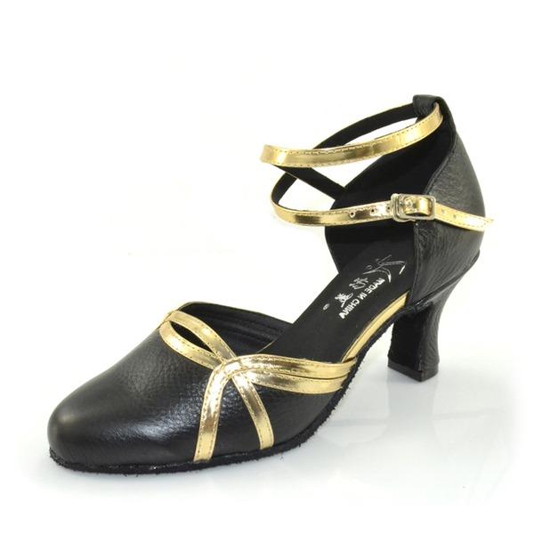 De mujer Piel Tacones Salón Sala de Baile con Tira de tobillo Zapatos de danza