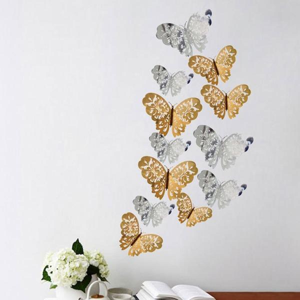 Sommerfugl Design Smukke Pap Papir Dekorativt tilbehør (sæt af 12 packs)