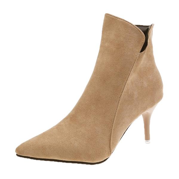 Vrouwen Stof Stiletto Heel Enkel Laarzen met Gesplitste Stof schoenen