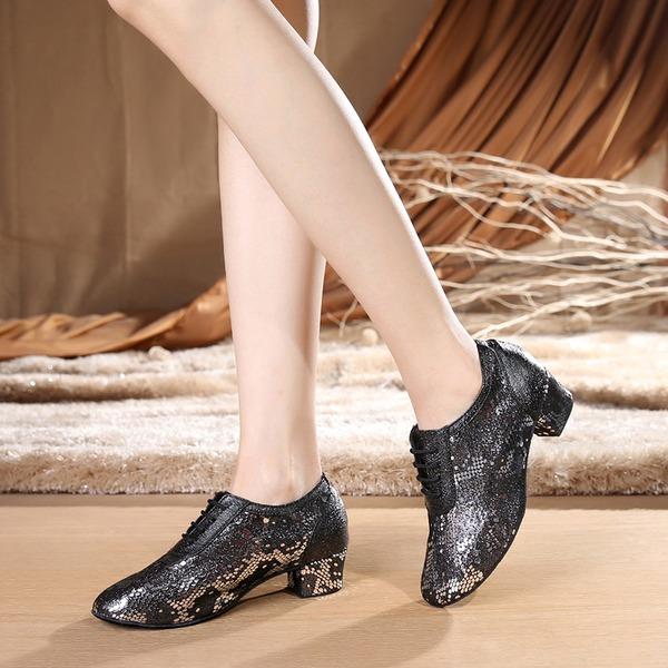 Dámské Pravá kůže Lodičky Trénink Taneční boty