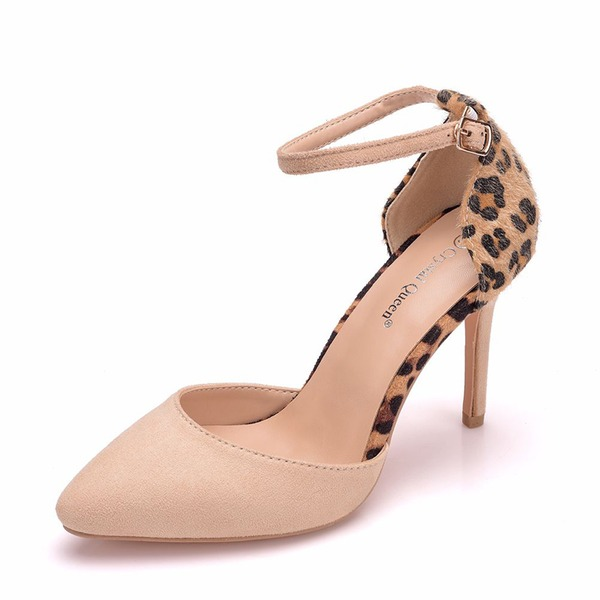 Women's Suede Stiletto Heel Sandals Pumps shoes
