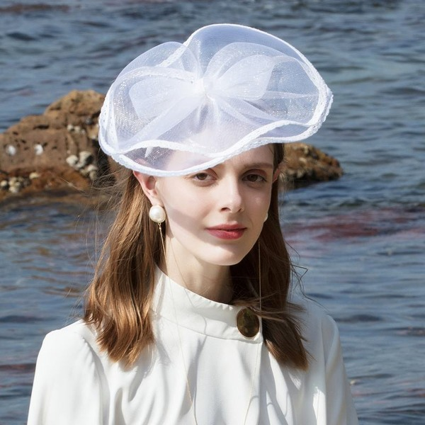 Dames Glamour/Simple/Accrocheur Polyester Chapeaux de type fascinator