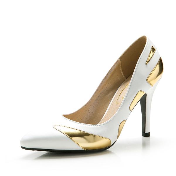 De mujer Satén Tacón stilettos Salón Cerrados con Material Block zapatos