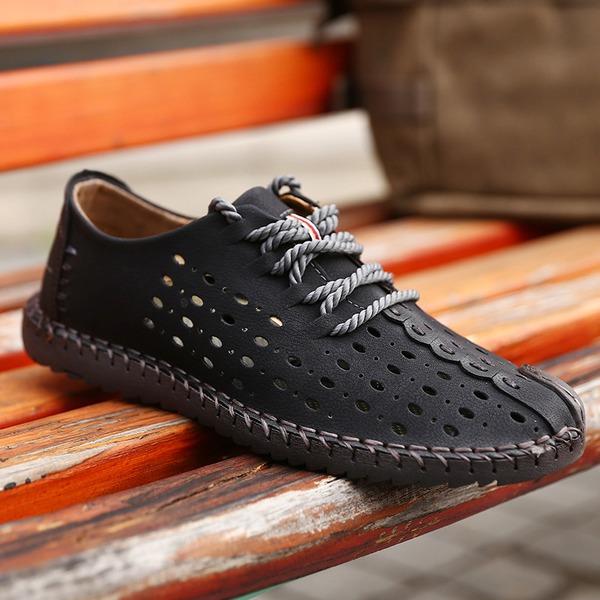 Pánské Pravá Kůže šněrovací Casual Pánská obuv Loafers