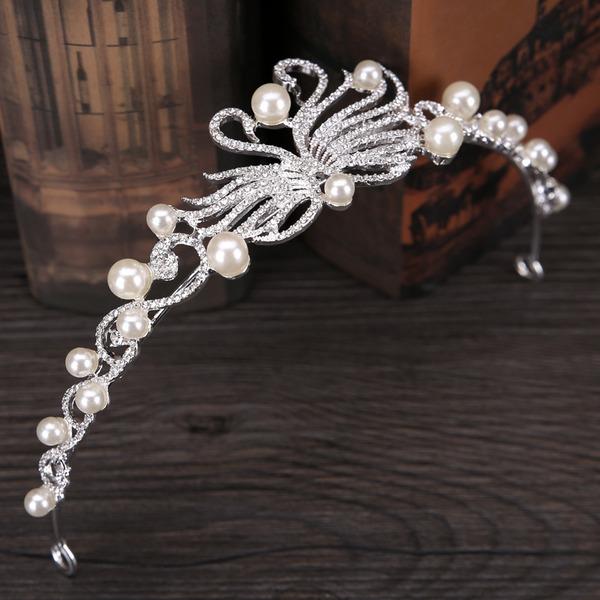 Damen Prächtig Faux-Perlen Tiaras