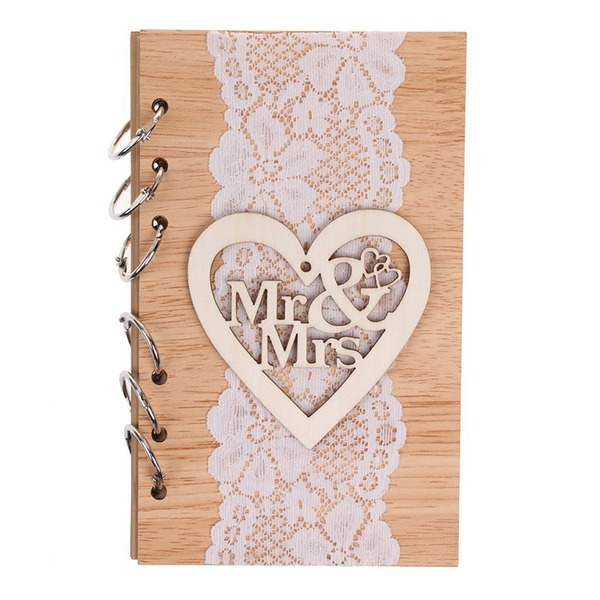 Wooden wedding cutout mr&mrs notebook (Sold in a single piece)