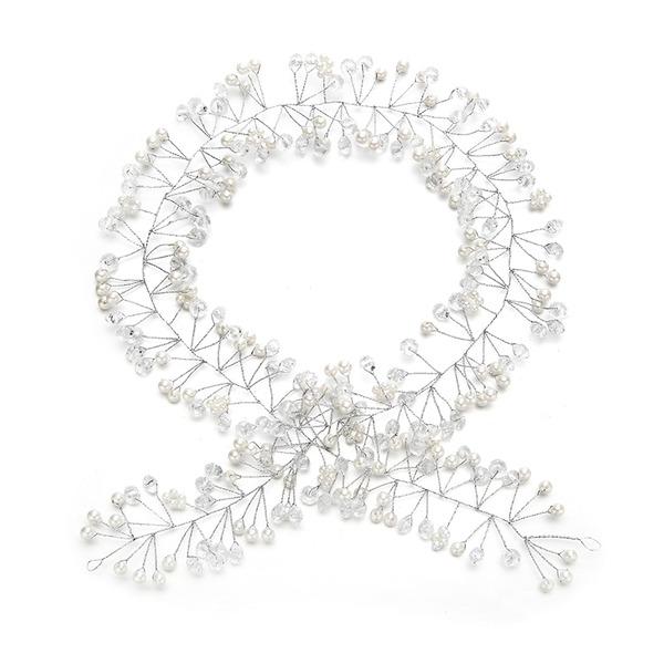 Dames Uniek Kristal/Imitatie Parel Hoofdbanden met Venetiaanse Parel/Kristal (Verkocht in één stuk)