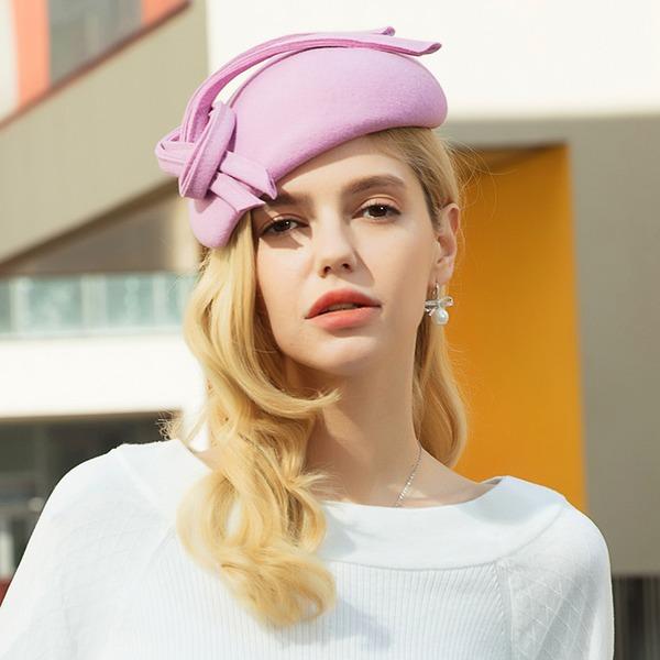 Damen Mode/Glamourös/Klassische Art/Nizza/Fantasie Wollen Baskenmütze Hut