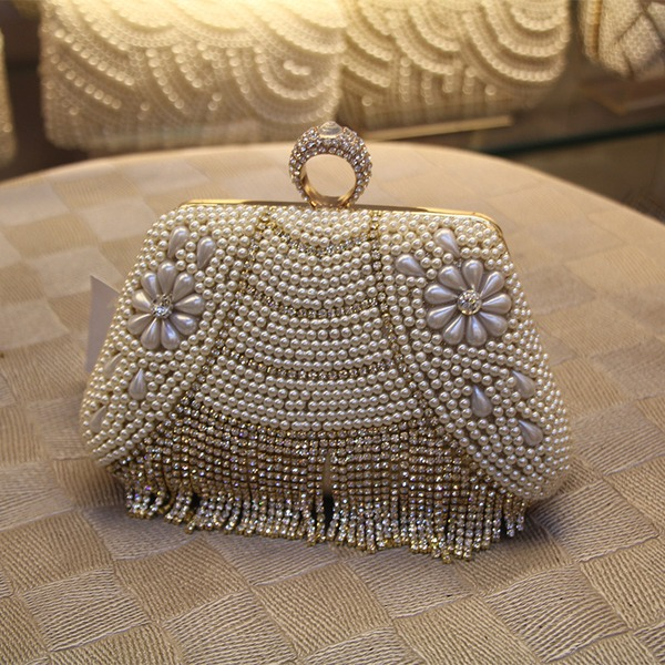Elegant PU/Imitation Pearl Clutches