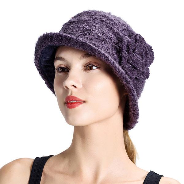 Ladies' Elegant/Unique Wool With Silk Flower Bowler/Cloche Hats