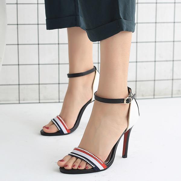 Naisten Keinonahasta Piikkikorko Sandaalit Avokkaat Peep toe Mary Jane jossa Solki kengät