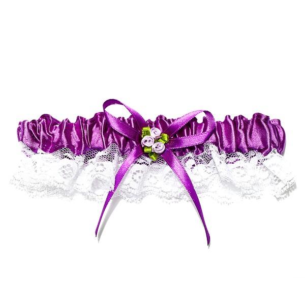 удивительный Кружева с атласные ленты Атласный цветок свадьба Подвязки