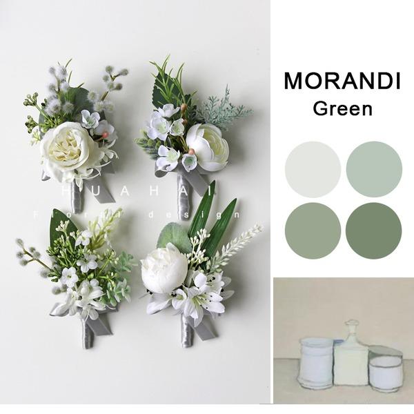 Affascinante Free form Panno Set fiore - Polso corsage/Fiore all'occhiello