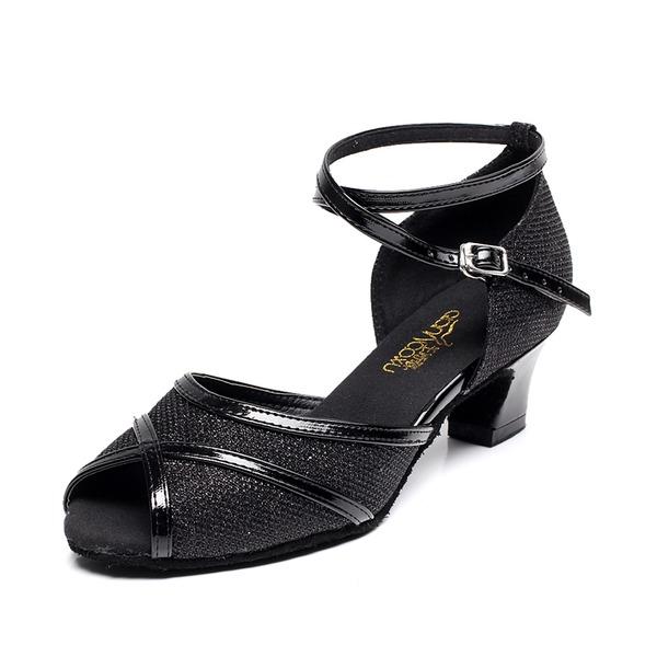 Dámské Šumivé Glitter Sandály Latinské Taneční boty